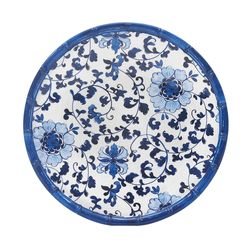 Plato-postre-melamina-vintage-azul-22.9-cm