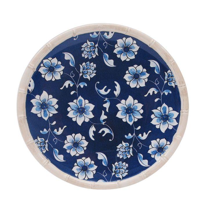 Plato-llano-melamina-vintage-azul-28.3-cm