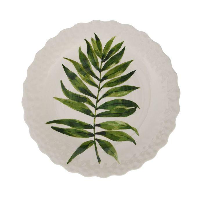 Plato-llano-en-melamina-hojas-verde-279-cm