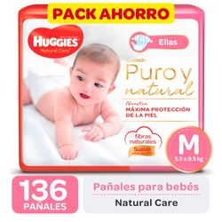 Pack-ahorro-pañal-Huggies-natural-care-ellas-M-136-un.