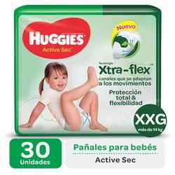 Pañal-HUGGIES-Active-sec-uLrap-talle-xxg-30-un