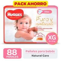 Pack-ahorro-pañal-Huggies-natural-care-ellas-XG-88-un.