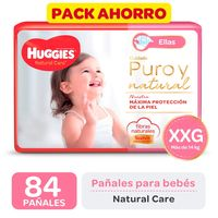 Pack-ahorro-pañal-Huggies-natural-care-ellas-XXG-84-un.