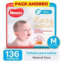 Pack-ahorro-pañal-Huggies-natural-care-ellos-M-136-un.