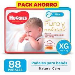 Pack-ahorro-pañal-Huggies-natural-care-ellos-XG-88-un.