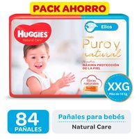 Pack-ahorro-pañal-Huggies-natural-care-ellos-XXG-84-un.