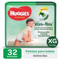 Pañal-HUGGIES-Active-sec-uLraptalle-xg-32-un