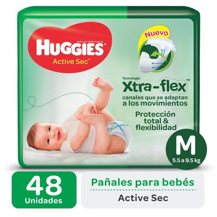 Pañal-HUGGIES-Active-sec-uLrap-talle-m-48-un