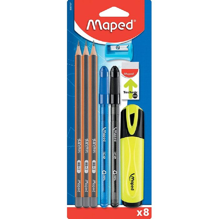 Set-MAPED-8-piezas-1-destacador---goma-de-borrar
