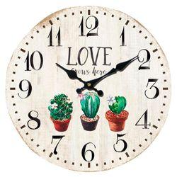 Reloj-de-pared-33-cm-diseño-con-cactus