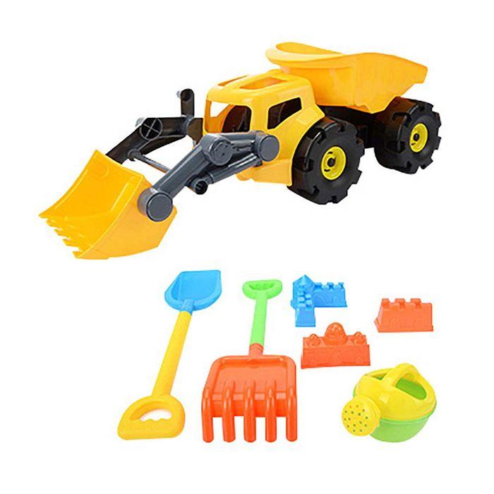 Camion-con-pala-con-accesorios-de-playa