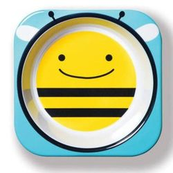 Plato-melamina-para-bebe-SKIP-HOP-abejas