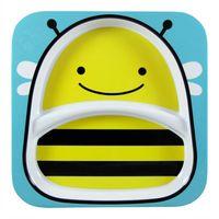 Plato-con-division-para-bebe-SKIP-HOP-abejas