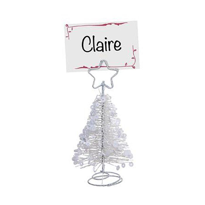 Porta-nombres-forma-arbol-navidad-blanco