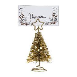 Porta-nombres-forma-arbol-navidad-dorado