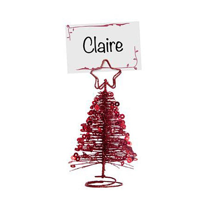 Porta-nombres-forma-arbol-navidad-rojo
