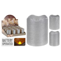 Vela-led-7x9cm-plata
