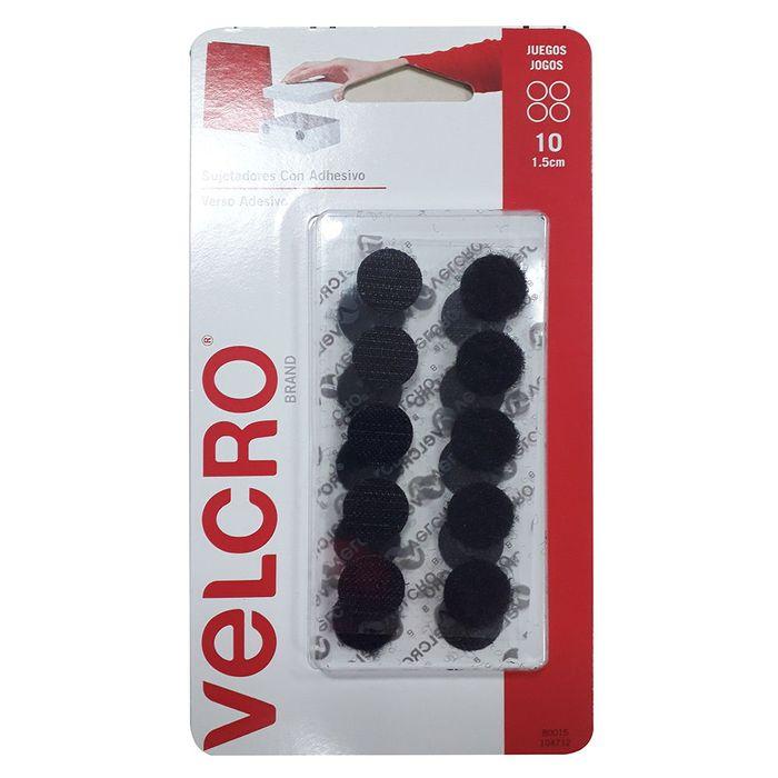 Circulos-VELCRO-con-adhesivo-de-1.5-cm-Negro-10-juegos
