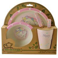 Set-vajilla-infantil-fibra-b-5-piezas-rosa