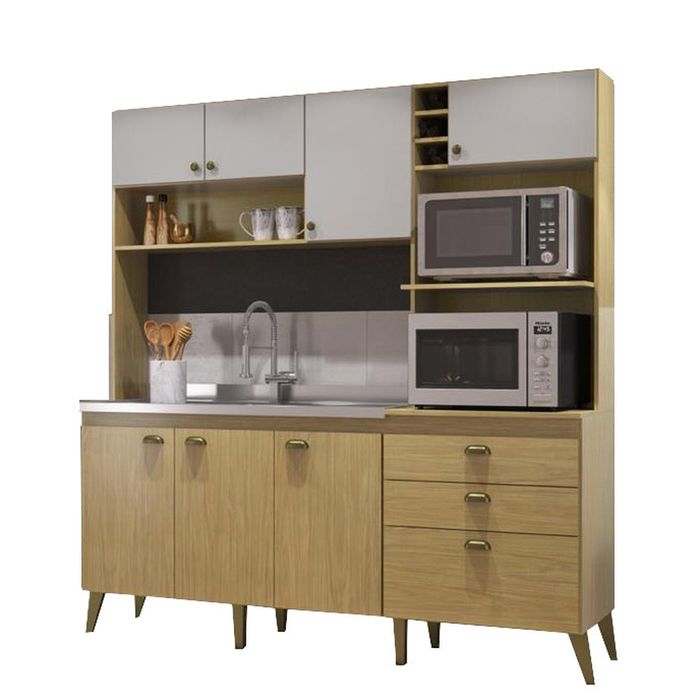 Cocina-compacta-con-pileta-de-acero-inoxidable-199x186x52-cm