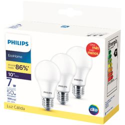 Lampara-PHILIPS-led-ecohome-calida-x-3-7W