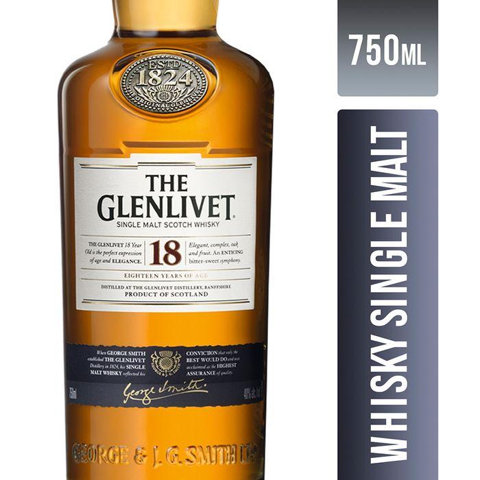 Whisky-THE-GLENLIVET-single-malt-18-years-scotch-750-cc---libreta-de-obsequio