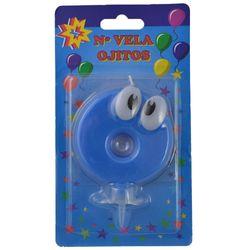 Numero-0-celeste-con-ojos---portavela-plastico