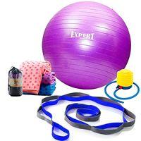 Set-pelota-de-pilates-55cm---banda-elongacion---toalla-yoga