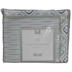 Juego-de-sabanas-Pilar-1-plaza-a-rayas-verde