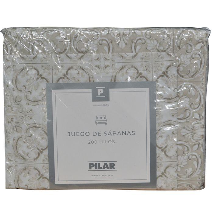 Juego-de-sabanas-Pilar-1-plaza-estampado-beige