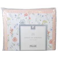 Juego-de-sabanas-Pilar-Queen-estampado-flor-rosa