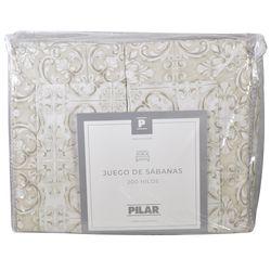 Juego-de-sabanas-Pilar-Queen-estampado-a-rayas-beige