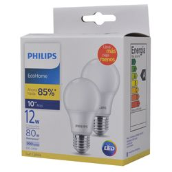 Lampara-PHILIPS-led-ecoh-calida-x2-12w