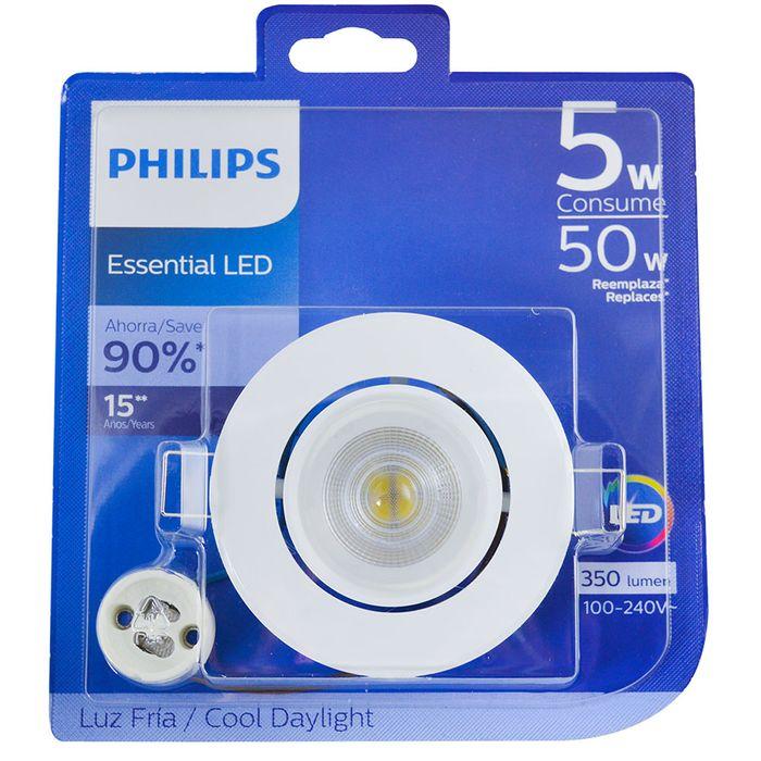 Spot-led-PHILIPS-50-w-Mod.-GU10-fria-circular