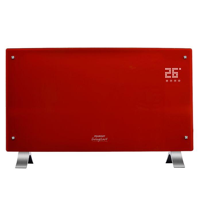 Vitroconvector-PEABODY-rojo-Mod.-PE-VQD20R-2000w-curvo-digital