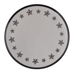 Plato-llano-melamina-dark-estrella-28-cm