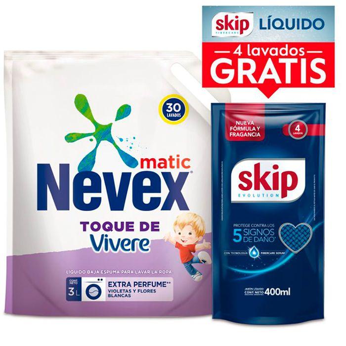 Pack-detergente-NEVEX-toque-Vivere-3L--SKIP-400ml-de-regalo