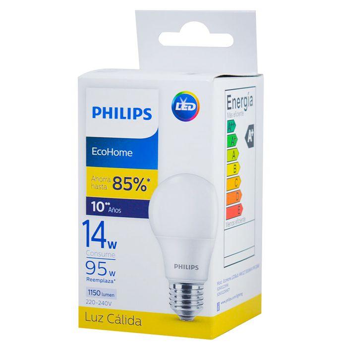 Lampara-PHILIPS-Ecohome-led-calida-14-w