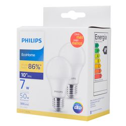 Lampara-PHILIPS-led-ecoh-calida-x2-7w