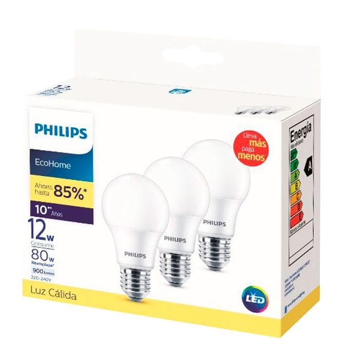 Lampara-x-3-PHILIPS-LED-calida-12-W