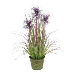 Planta-artificial-45cm-verde-con-violeta