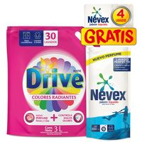 Pack-detergente-liquido-DRIVE-3L---NEVEX-400cc-de-regalo