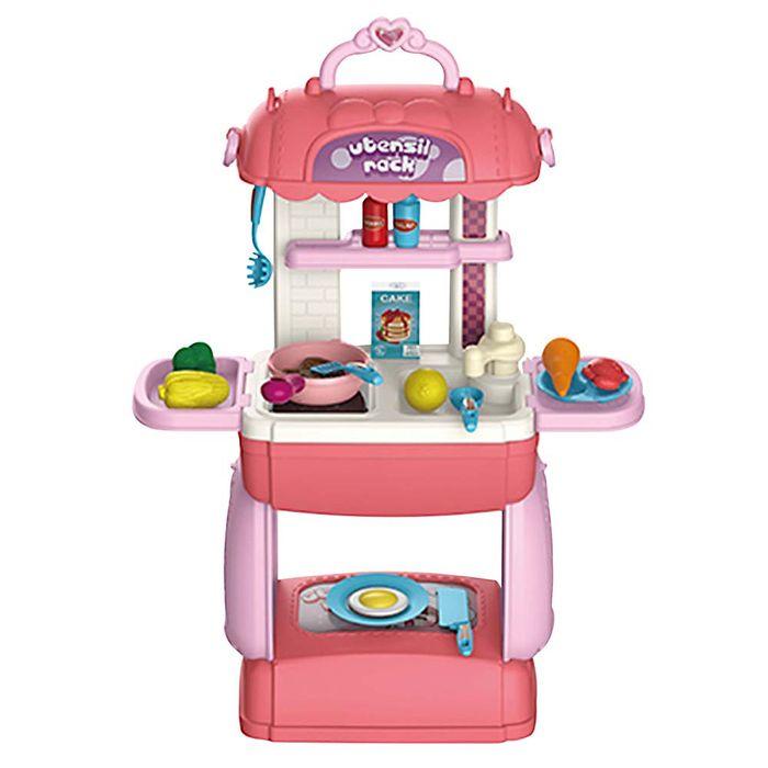 Cocina-de-pie-con-accesorios-valija-rosada