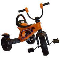 Triciclo-de-metal-naranja-blanco-rojo