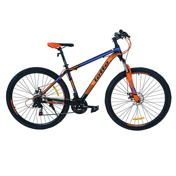 Bicicleta-montaña-rod.29-LOTTO-hombre-21-velocidades-naranja-azul