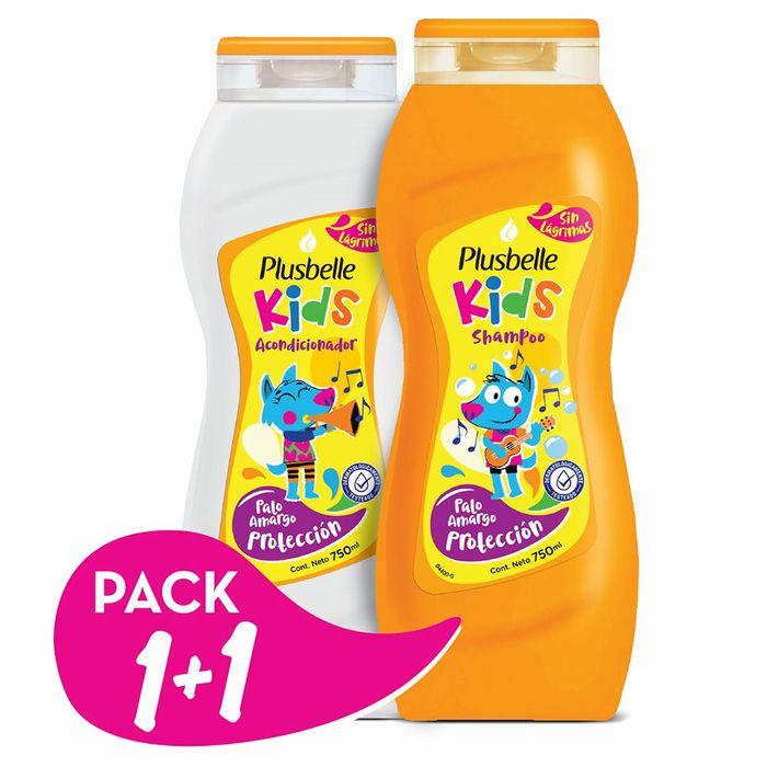 Pack-PLUSBELLE-kids-shampoo---acondicionador-750-ml