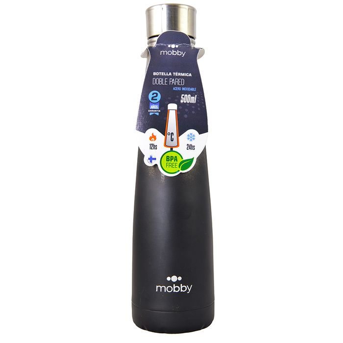 Botella-conica-acero-inoxidable-500ml-negro-MOBBY