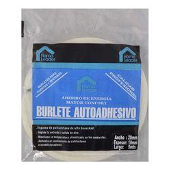 Burlete-HOME-LEADER-20x10-mm-5-mt-blanco
