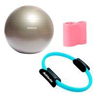 Set-pilates-ATHLETIC-pelota-65-cm---anilla---banda-elastica