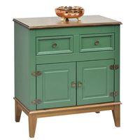 Mueble-2-puertas---2-cajones-41x74x83-cm-MDF-verde